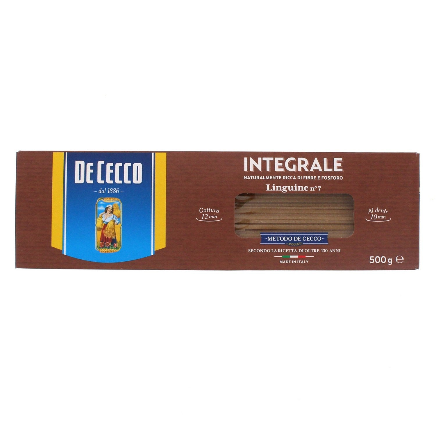 De Cecco Integrale (Whole Wheat) Linguine no 7 500g