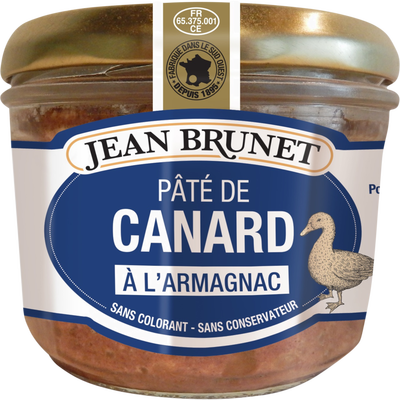 Jean Brunet Duck pate with Armagnac 180g