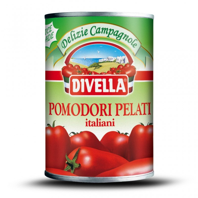 Divella Whole Peeled Tomatoes  400g