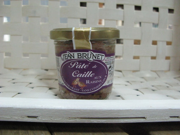 Jean Brunet Quail Pate with Raisins 90g