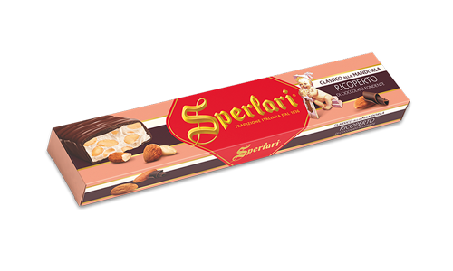 Sperlari Almond Nougat Coverered With Dark Chocolate