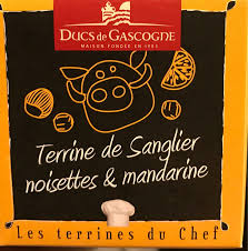 Boar, hazelnut and mandarin terrine 65g Ducs de Gascogne