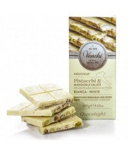 Venchi White Chocolate Hazelnut Bar - Chocolite no Added Sugar 100g