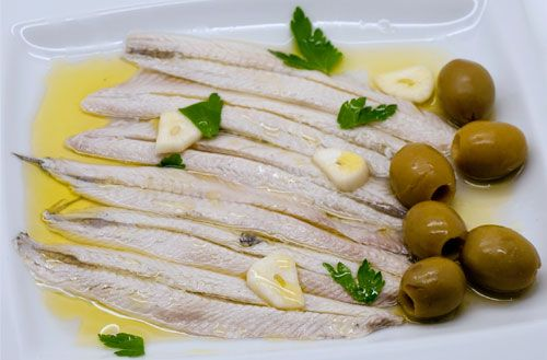 Agostino Recca White Anchovies in Sunflower Oil  200g