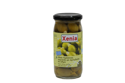 Xenia Green Olives Stuffed with Almond 355g