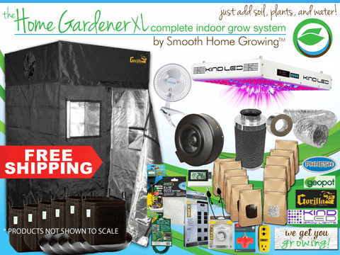 The HOME GARDENER XL, a larger version of Smooth Home Growing's complete indoor garden system.