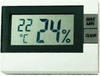 A hygro-thermometer to check temperature and humidity in The Home Gardener Complete Indoor Garden System.