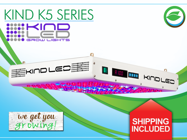 Shipping is included for any light in the K5 Series by KIND LED, the best indoor grow lights for indoor gardening.