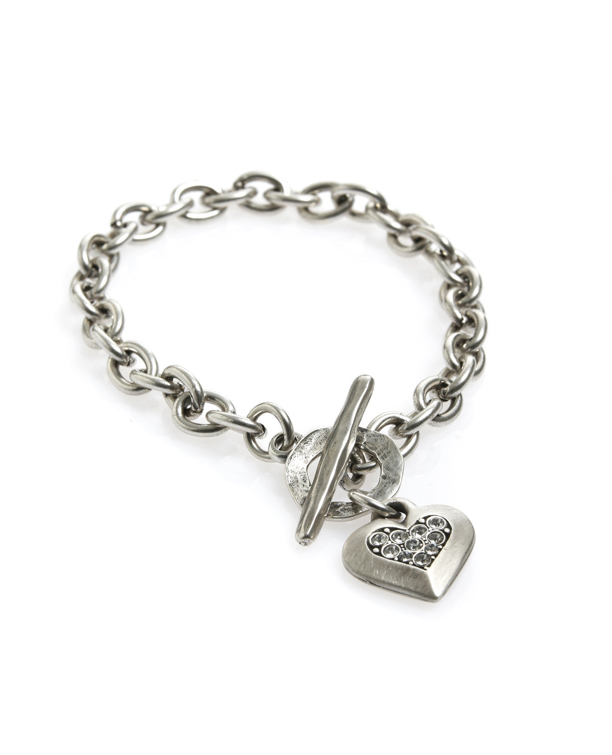 Crystal Centre Heart Bracelet