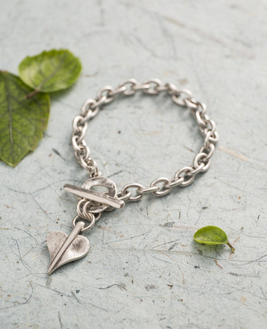 Mini Leaf of LoveT-Bar Bracelet