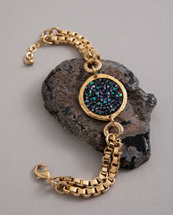 'Oh My Crystal Rock' Bracelet Gold