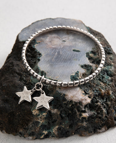 Star Shine Double Charm Bangle