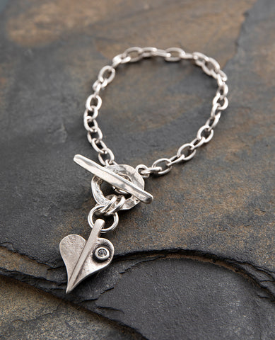 Crystal Leaf of Love Delicate Bracelet