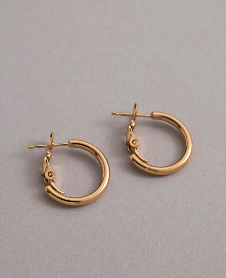Must S Earrings Gold