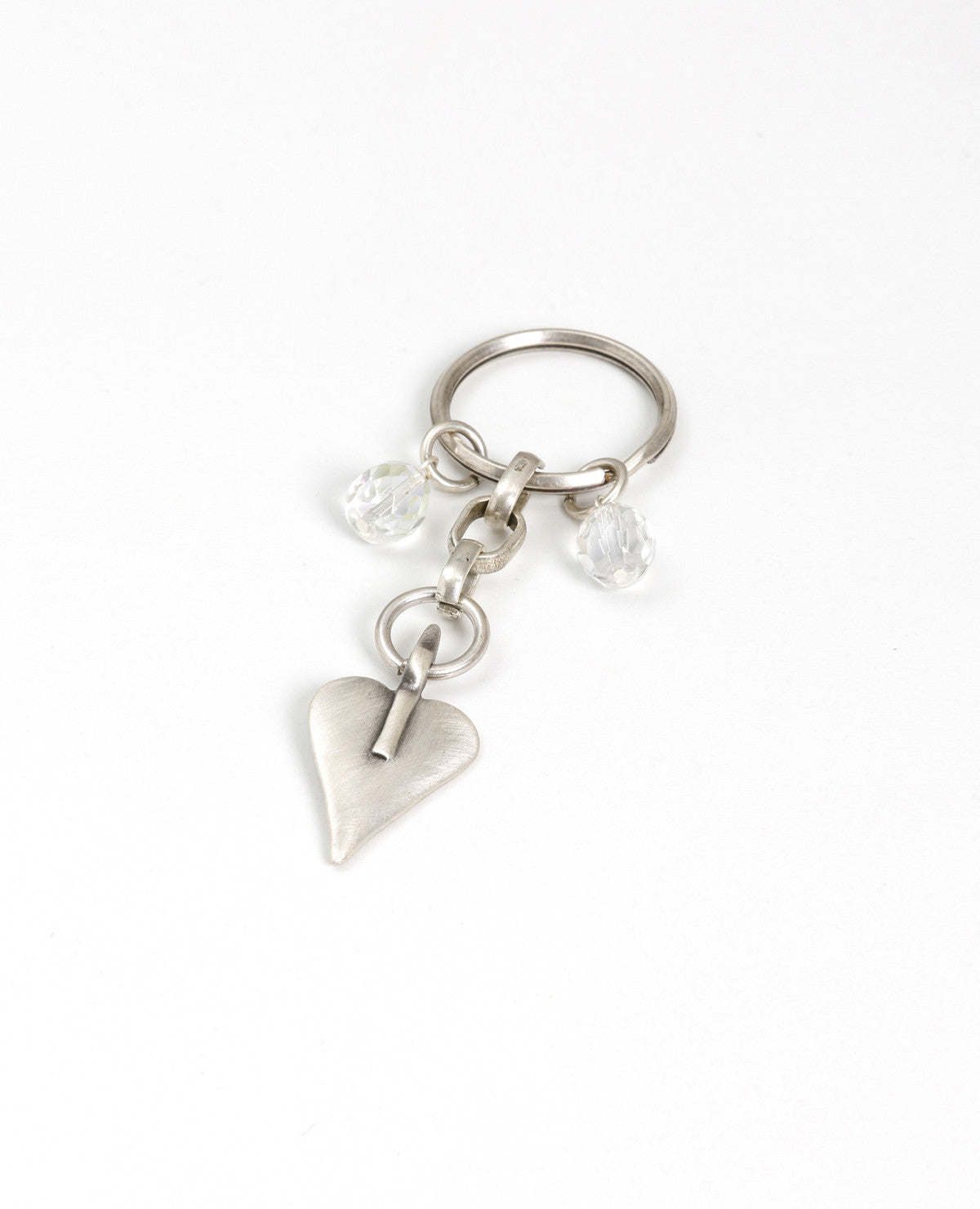 Signature Heart Crystal Key Ring