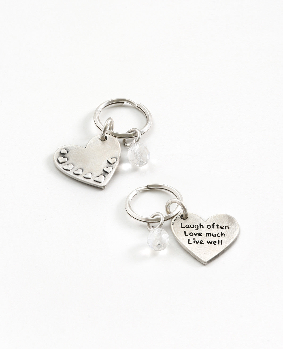 Embossed Heart Key Ring