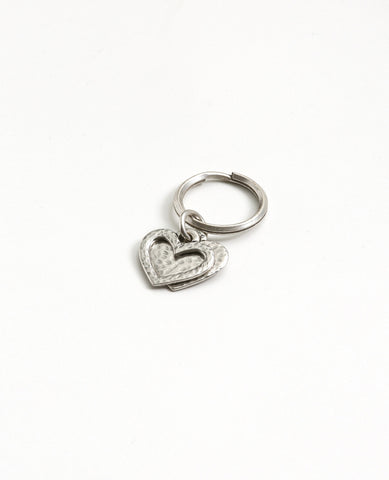 Heart Outline Key Ring