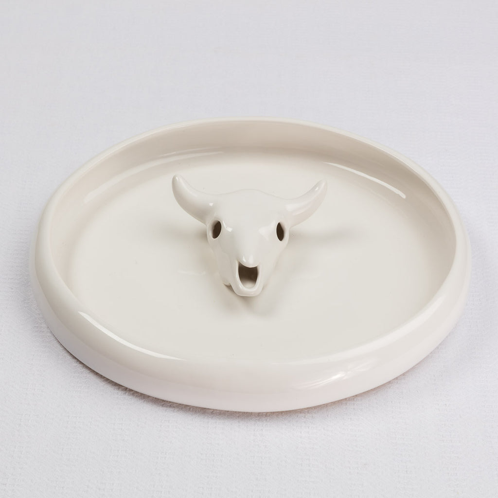 White Angus Snack Bowl