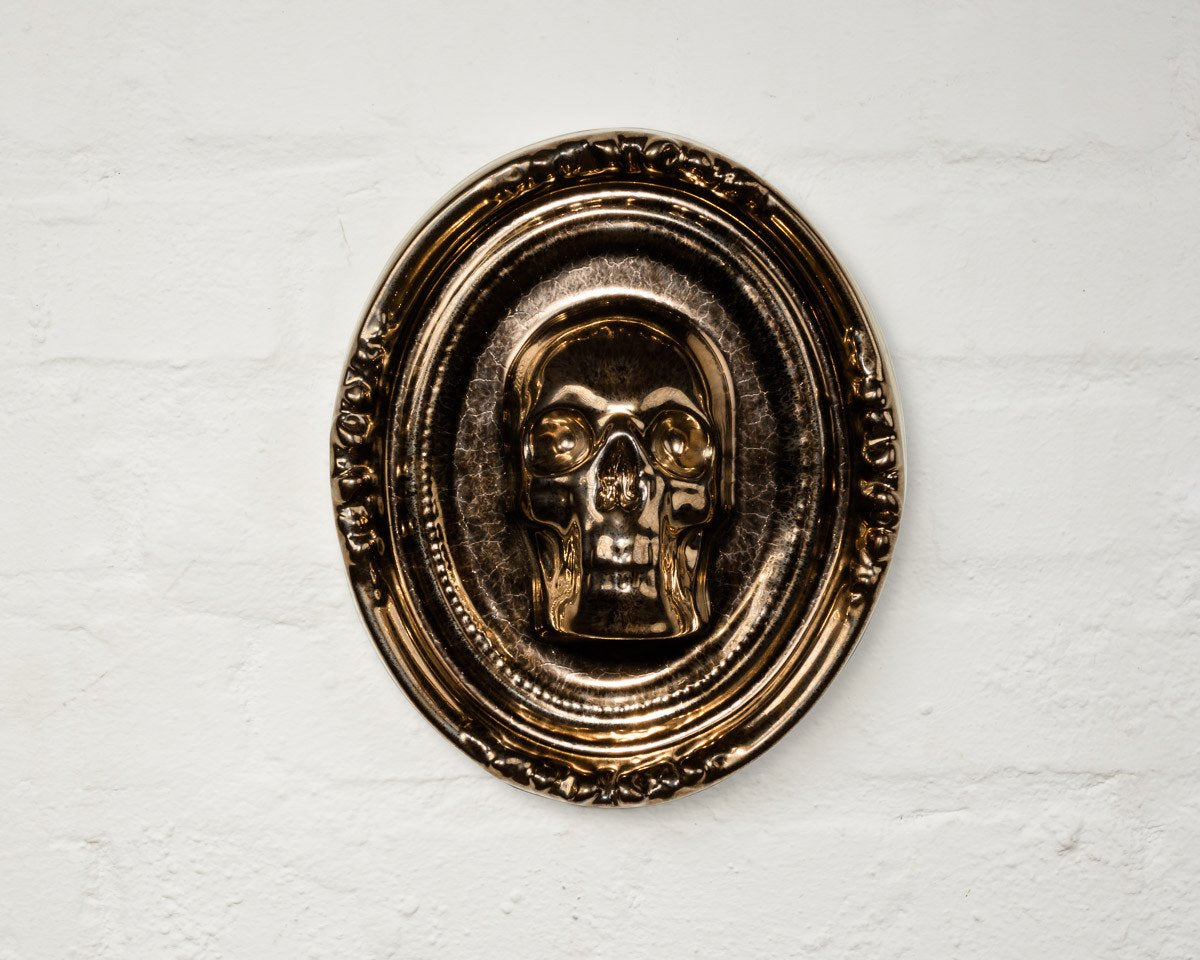 Bronze Guns & Roses Plaque