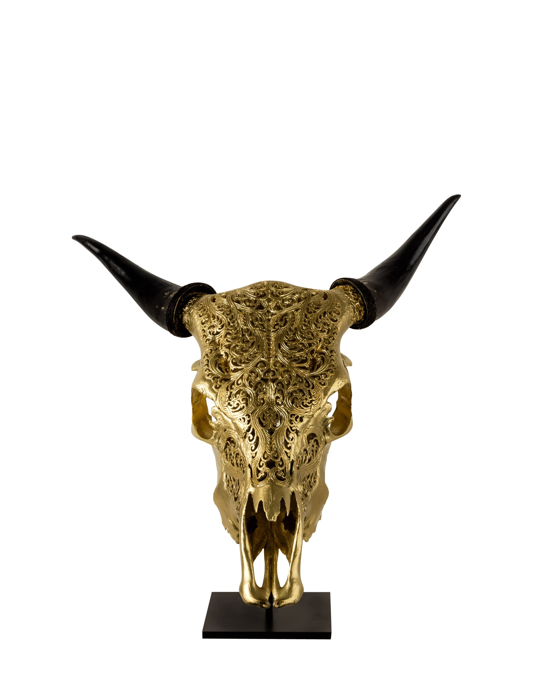 Gold Decorative Impala Skull