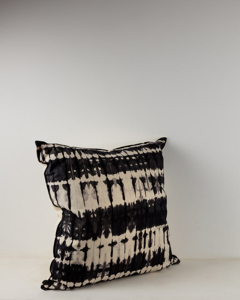 B&W Shibori Printed Cushion