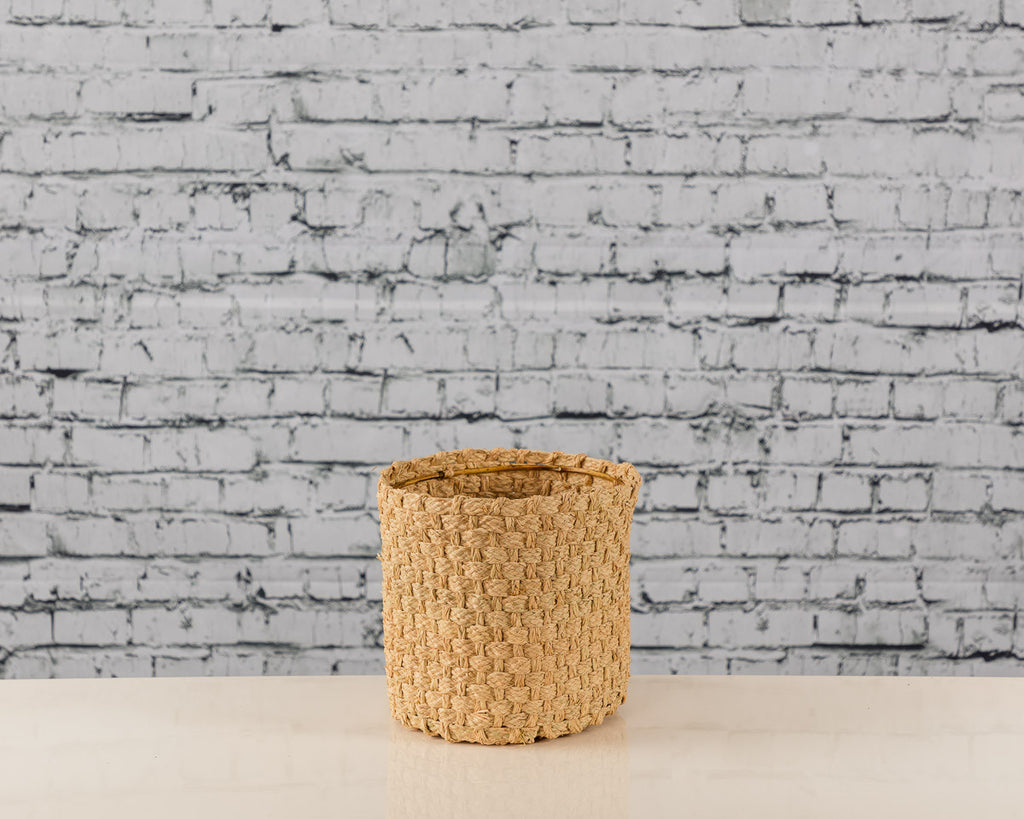 Raffia Plaited Baskets