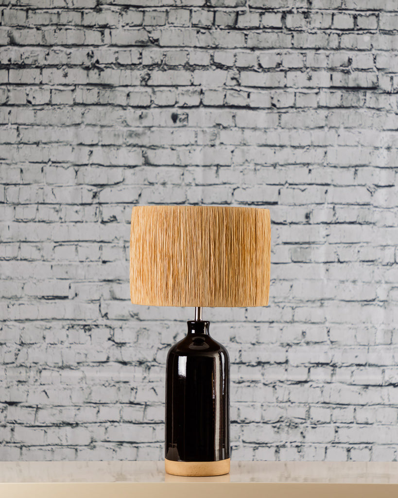 Two Tone Lamp Base with shade