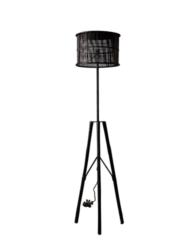 Plantation Floor Lamp Black