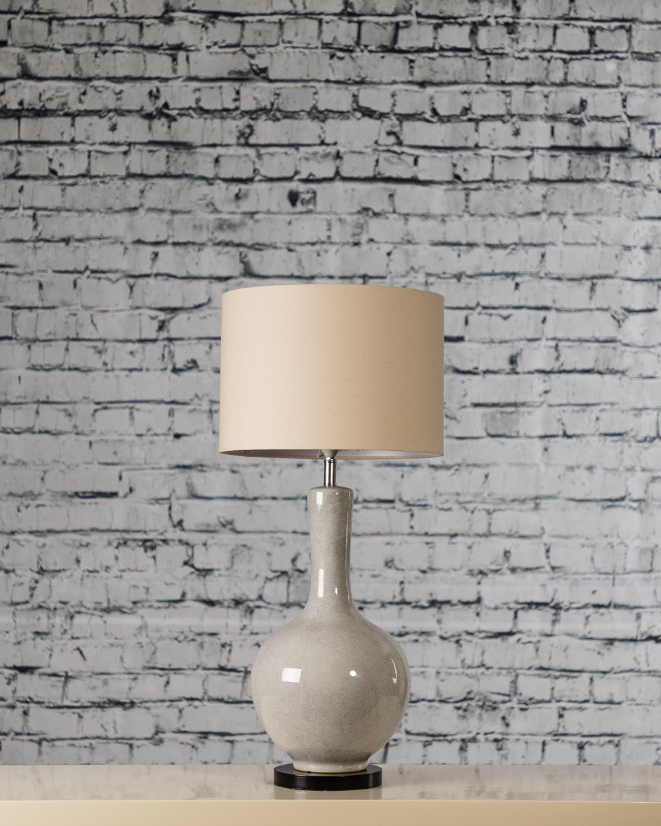 Crackle Lamp Base with shade