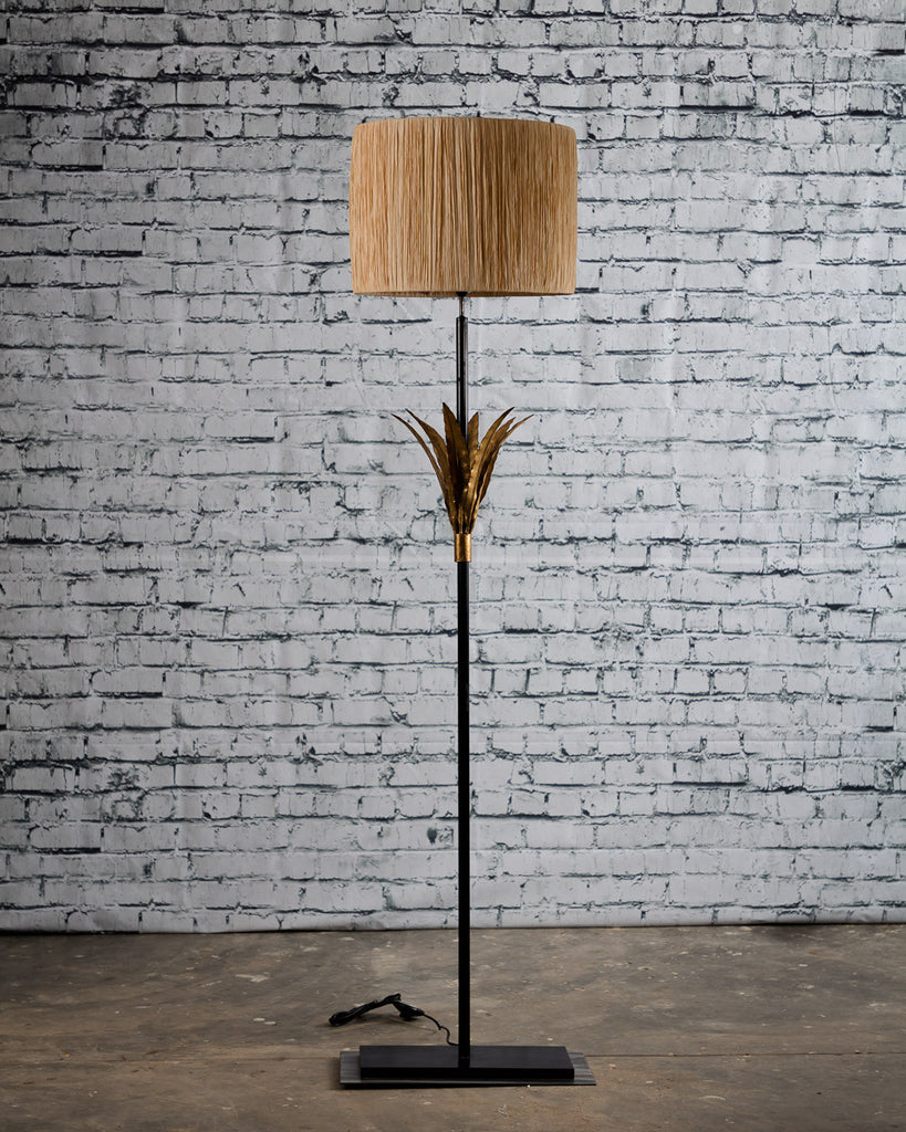 Palm Floor Lamp with shade