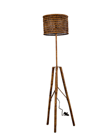 Plantation Floor Lamp Brown