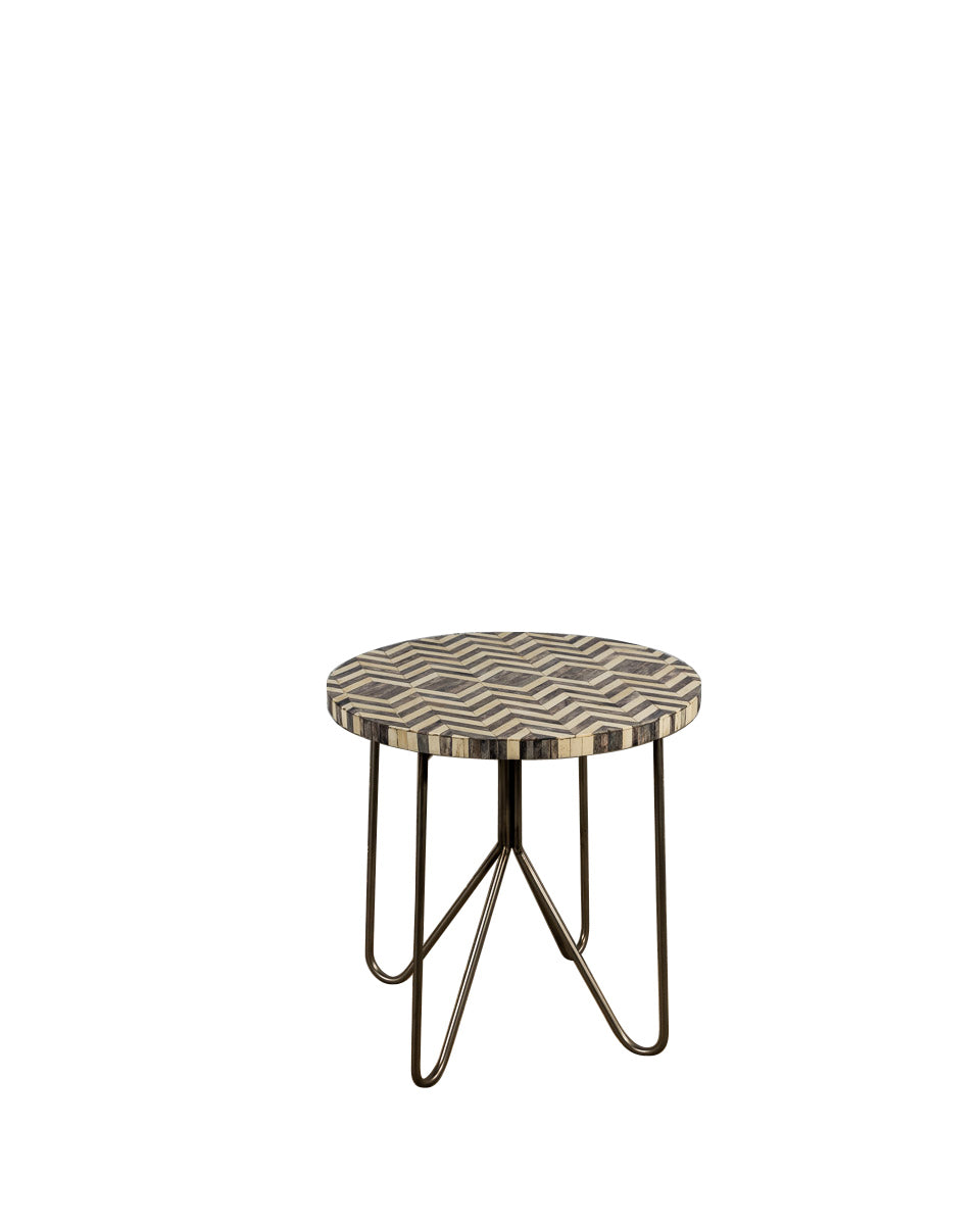 Zig Zag Bone Side Table