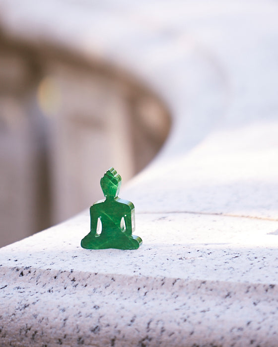 Green Mini Buddha Statue