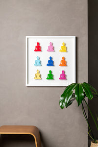 Buddha wall art - Nine No 1