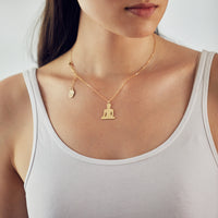 Meditating Buddha Pendant, 24K Gold Plated