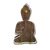Contemporary Wood and lucite Buddha Statue