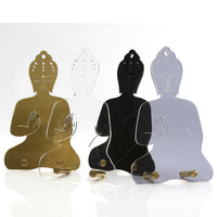 Contemporary Plexiglass Meditating Buddha statue / Jewelry Hanger