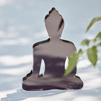 Mini / Medi Buddha statue - Contemporary Meditating Black Buddha