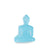 Mini/Medi Buddha statue - Contemporary Meditating Light Blue Buddha