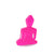 Mini Buddha statue - Contemporary Meditating pink neon Buddha