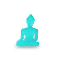 Mini Buddha statue - Contemporary Meditating turquoise Buddha
