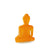 Mini / Medi Buddha statue - Contemporary Meditating Orange Buddha