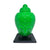 Buddha Head Statue - Luminous Green