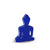Mini Buddha statue - Contemporary Meditating Dark Blue Buddha