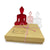 3 Contemporary Meditating Buddha Statues - Mini bu Rose Trio