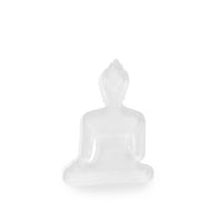 Buddha statue set of 3 - Gray, White and Light Blue