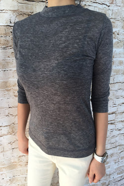 Short Sleeved Wool Material T-shirt
