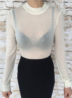 See-Through Sweater (Wool Material)