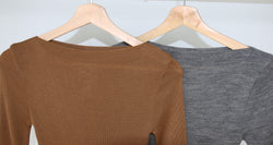 Gary Knitted Sweater and Skirt Set (Wool Material)