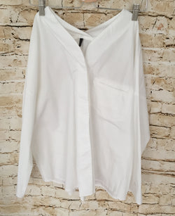 Vneck shape White Blouse